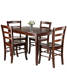 Winsome Wood Inglewood 5-Piece Dining Table with 4 Ladderback Chairs Set