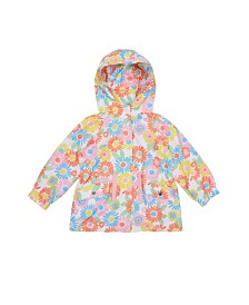 Flapdoodles Little Girls Floral Print Lightweight Jacket