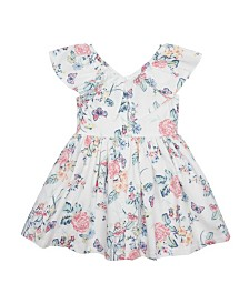 Flapdoodles Little Girls Ruffle Collar Dress