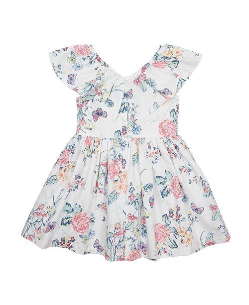 Flapdoodles Little Girls Ruffle Collar Dress