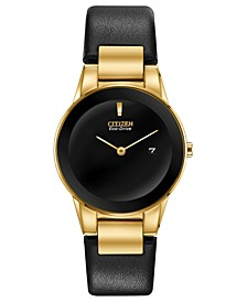 Eco-Drive Women's Axiom Black Leather Strap Watch 30mm