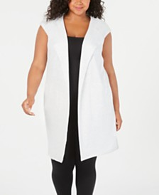 Ideology Plus Size Sleeveless Hoodie Vest
