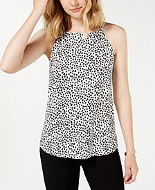 Juniors' Printed Tank Blouse