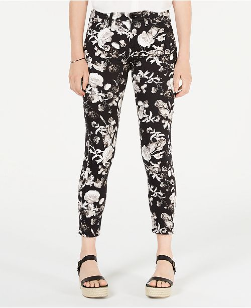 Jen7 by 7 For All Mankind Floral-Print Ankle Skinny Jeans