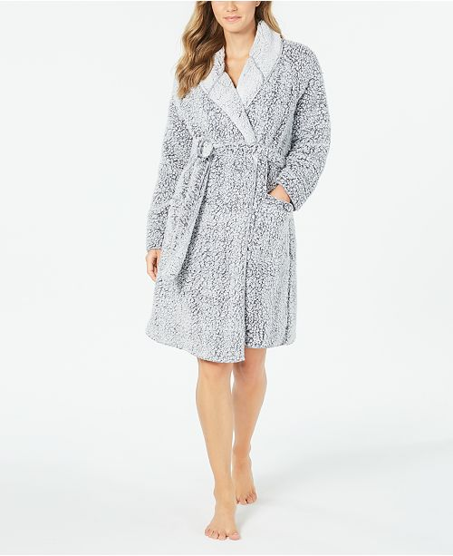 Charter Club Super Soft Faux-Fur Short Wrap Robe, Created for Macy's