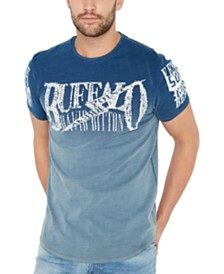 Buffalo David Bitton Men's Dip Dyed Venice Graphic T-Shirt