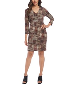 Karen Kane Plaid Sheath Dress