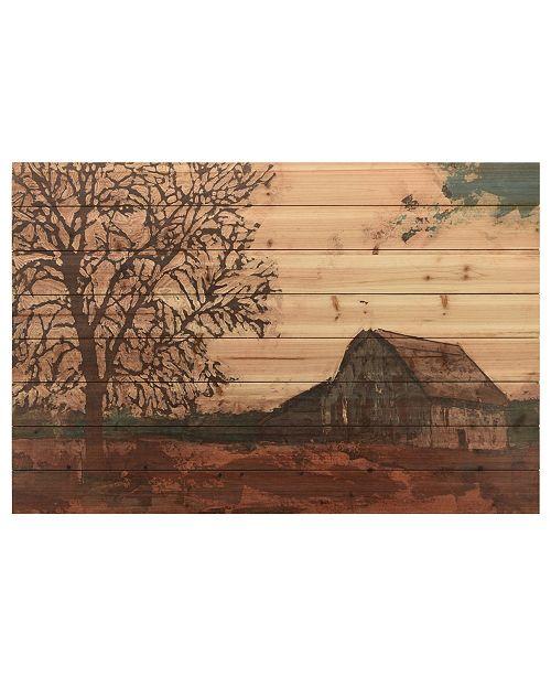 "Empire Art Direct 'Erstwhile Barn 2' Arte De Legno Digital Print on Solid Wood Wall Art - 30"" x 45"""