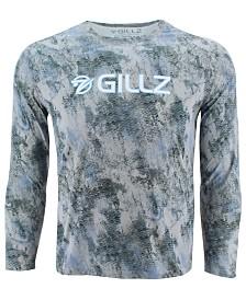 Gillz Men's Grunge Printed Sun Defender Long-Sleeve T-Shirt
