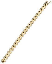 Italian Gold San Marco Link Bracelet in 14k Gold