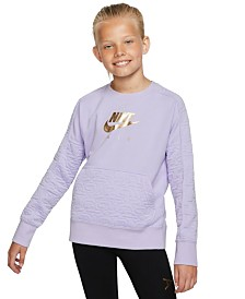 Nike Big Girls Air Fleece Sweatshirt
