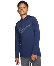 Nike Big Boys Breathe Dri-FIT Long Sleeve Hooded Training Top