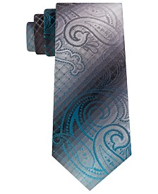 Van Heusen Men's Hurbanova Paisley and Check Tie