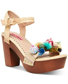 Betsey Johnson Jaden Platform Clog Sandals