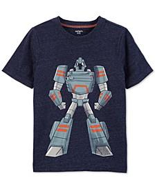 Little & Big Boys Robot-Print Zipper T-Shirt