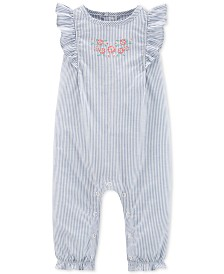Carter's Baby Girls Striped Cotton Jumpsuit