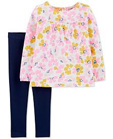 Toddler Girls 2-Pc. Floral-Print Top & Leggings Set