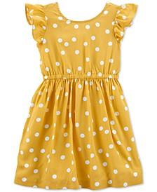 Toddler Girls Dot-Print Bow-Back Dress