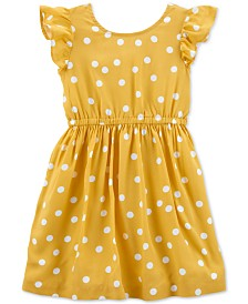 Carter's Toddler Girls Dot-Print Bow-Back Dress