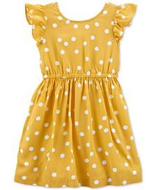 Carter's Toddler Girls Dot-Print Bow-Back Dress