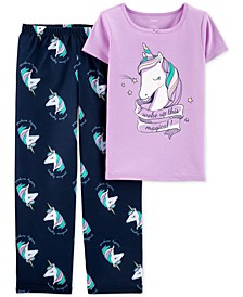 Little & Big Girls 2-Pc. Unicorn Pajama Set