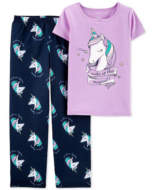 Carter's Little & Big Girls 2-Pc. Unicorn Pajama Set