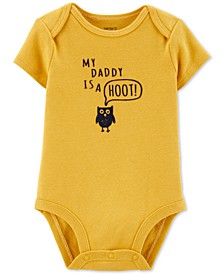 Baby Boys Daddy Is A Hoot Cotton Bodysuit