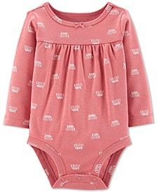 Baby Girls Little Sister-Print Cotton Bodysuit