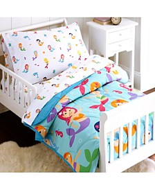 Wildkin's Mermaids 4 Pc Bed in a Bag - Toddler