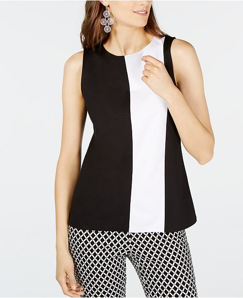 INC International Concepts INC Colorblocked Top, Created for Macy's