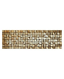 "Empire Art Direct 'Textured 2' Metallic Handed Painted Rugged Wooden Blocks Wall Sculpture - 72"" x 22"""