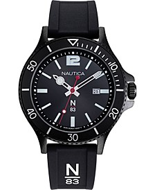 N83 Men's NAPABS908 Accra Beach Black Silicone Strap Watch
