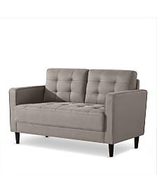 Zinus Benton Mid-Century Upholstered Loveseat