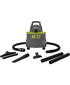 Wd-6K Wet/Dry Vacuum Cleaner With 6-Gallon Tank