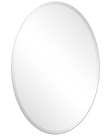 "Frameless Beveled Oval Wall Mirror - 24"" x 36"""