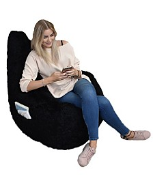 Acessentials Big Mouth Fur Inflatable Chair