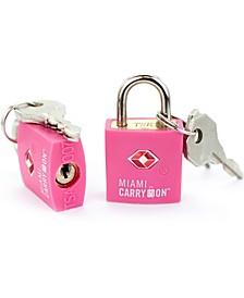 TSA Approved Keyed Luggage Lock - Set of 2