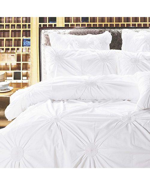 California Design Den Cotton 3-Piece Duvet Cover Set, Full/Queen