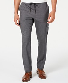 Tasso Elba Men's Stretch Drawstring Cargo Pants, Created for Macy's