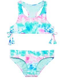 Summer Crush Big Girls 2-Pc. Tie-Dyed Bikini