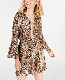 Juniors' Animal-Print Dress, Created for Macy's