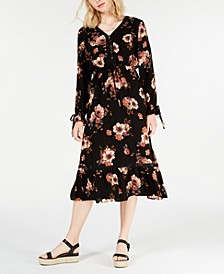 Juniors' Floral-Print Midi Dress, Created for Macy's