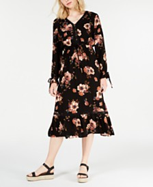 American Rag Juniors' Floral-Print Midi Dress, Created for Macy's
