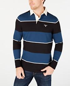 Barbour Men's Lark Regular-Fit Stripe Rugby Shirt