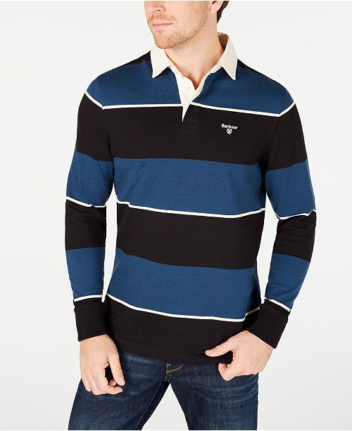 Barbour Men's Lark Regular-Fit Stripe Rugby Shirt