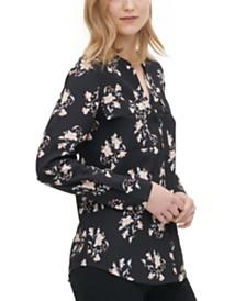 Calvin Klein Floral-Print Blouse