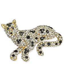 Gold-Tone Crystal Lion Pin, Created for Macy's