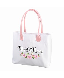 Lillian Rose Floral Maid of Honor Tote Bag