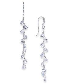 I.N.C. Silver-Tone Cubic Zirconia Shaky Linear Drop Earrings, Created for Macy's