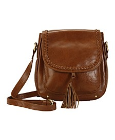 Hadaki Crossbody Leather Saddle Bag